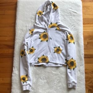 Cropped sunflower sweatshirt
